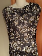 VERA WANG Couture ORGANZA FLOWER PRINT SLEEVELESS GOWN NEW SIZE  4  38Co
