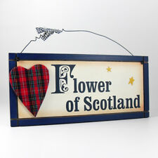 Flower of Scotland - Decorative Wooden Scottish Wall Plaque / Sign / Gifts