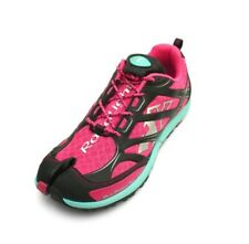 Lafeet Women's Raidlight Dual Finger Trail Running Shoes in Raspberry/Turquoise