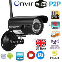 Brand 720P Outdoor Wireless WiFi IP Network CCTV Security Camera Night Vision