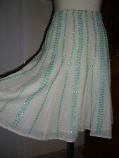 Nougat,Hand embellished ,Bead&Sequin Knee length Skirt,Party,Cocktail,Hippy boho