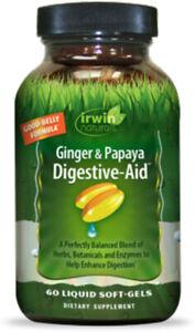 Ginger & Papaya Digestive-Aid by Irwin Naturals, 60 softgels