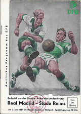 1959 coupe d'europe finale Real Madrid/STADE REIMS