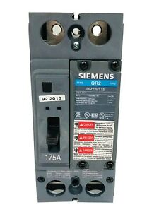 Siemens QR22B175, 175 AMP, 2 POLE, 240 VOLT QR Circuit Breaker