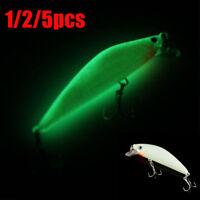 Pro 3D Luminous Night Fishing Baits Minnow Lures With 6# Hooks 7cm 8g