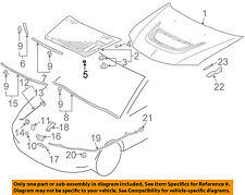 MITSUBISHI OEM 91-99 3000GT Hood-Insulator Insulation Pad Liner Clip MB270053
