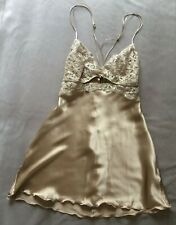 NEW Intimissimi Sexy Lace Babydoll with Silk Gold S