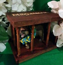 OOAK Handmade Replicated Bear In A Cage Midsommar Wooden Box