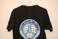 Rare Nike Michael Air Jordan ITS GOTTA BE THE SHOES Graphic Mens Black Tee L GUC