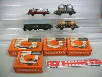 AB557-1# 4 Stück Märklin H0 Bausatz-Wagen 4910+4904+4911+4802