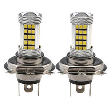 2Pcs H4 2835 LED 66SMD Hi/Low Car Fog Light Headlight Lamp Bulb White 12V 24V