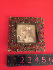 """""""Tizo"""" Italy Swarovski Studded with Jeweled And Enameled Picture Frame Mint"""