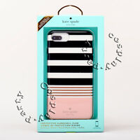 Kate Spade iPhone 7 Plus iPhone 8 Plus Hardshell Case - Black White Pink Stripe