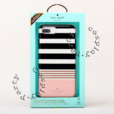 Kate Spade Protective Hardshell Case iPhone 7 Plus Black White Pink Stripe