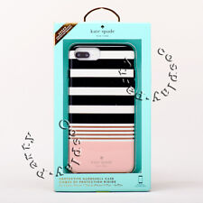 Kate Spade iPhone 7 Plus iPhone 8 Plus Hardshell Case Black White Pink Stripe