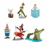 DisneyStore Peter Pan Tinkerbell Figure Playset Cake Toppers Set of 6 Figures