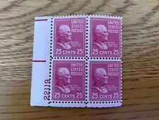 US Stamps SC# 829 William McKinley 25c PB MNH 1938