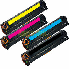 4 Pk CB540A CB541A CB542A CB543A Toner For HP 125A  Color Laserjet CM1312 CP1215