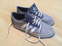 Adidas Adi Ease Blue White & Navy Skateboarding Trainers Denim Look G65544 UK 7