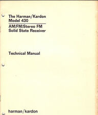 harman kardon model 430 original service manual fm stereo tuner radio receiver