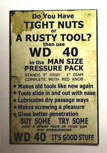 WD 40 AD spoof funny sexual innuendos VINTAGE LOOK man cave garage mechanic