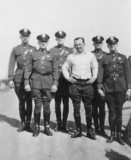 Vintage B&W Army Police Officers In Uniform / Motorcycle Unit Photo #557