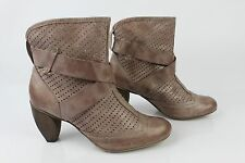 Bottines Boots VIRUS Cuir Taupe Clair T 37 TBE