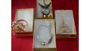 Harry Potter Time Turner GOLD Deathly Hallow, Snitch double wing watch