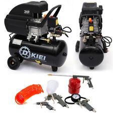 Complete Professional Air Compressor 25 Litre Compressore 5PC Spray Kit - 2.5 HP