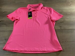 Under Armour Short Sleeve Polo Shirt Pink Womens Size M ( UW0484 ) NWT!!!