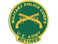 4x4 inch ROUND US Military Police Corps RETIRED Seal Sticker -decal MP logo army