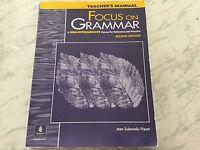 FOCUS ON GRAMMAR INTERMEDIATE, REFERENCE & PRACTICE, 2ND ED, TEACHER MANUAL