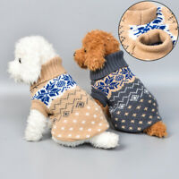 Pet Puppy Coat Clothes Dog Vest Knitted Jumper Sweater Small Medium Dog XS S M L