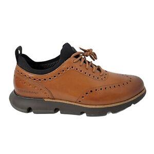 Cole Haan Men's 4.Zerogrand Wingtip Oxford British Tan Shoes Size 10.5 Casual