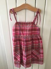 Little Girl's Clothes 3-4yrs - Pretty Pink Check Straps Tunic Top By NEXT 🐙🐙🐙