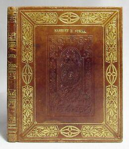 Antique 1830s HANDWRITTEN COMMONPLACE BOOK Poetry Journal FOLK ART Fine Leather