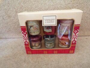 Yankee CandleS SIX X 47G  Festive Votive candles Boxed Gift Set