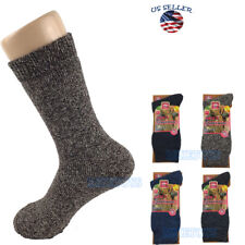 3 Pairs For Mens Heavy Duty Merino Lambs Wool Winter Thermal Socks Size (9)