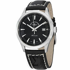 Zeno Men's Gentlemen Black Dial Black Leather Strap Automatic Watch 6662-2824-G1