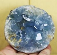 640g Rare Top Grade Gorgeous Sky Blue Celestite Ball Geode Rough Reiki Crystal