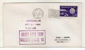 4942) USA Space Rocket Wallops Isl. 21 Apr 1961