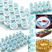 26 Alphabet Number Letter Cookie Biscuit Stamp Mold Cake Cutter Fondant Mould
