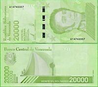VENEZUELA 20000 (20.000)  BOLIVARES SOBERANO 22 ENERO 2019 (22-1-2019) NEW UNC