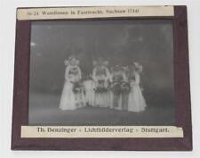 Sachsen Tracht Wendinnen, antikes Lichtbild Glasplatte ca. 1920 #E871