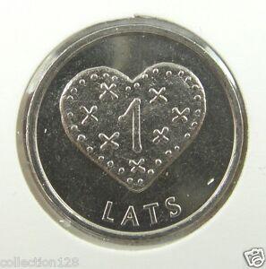 Latvia Coin 1 Lats Christmas Heart Gingerbread 2011 UNC
