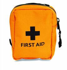 EMPTY FIRST AID KIT BAG - SMALL - ORANGE - HI VIZ - FORESTRY - MARINE - TRAVEL
