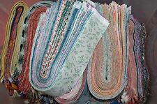 """Lot#b of 20-2.5"""" MIXED colors, strips, jelly roll, quilt, cotton fabric-grab bag"""