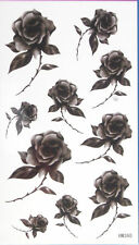 Black RosesTemporary Tattoos HM360