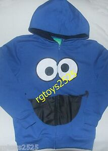 Sesame Street Cookie Monster Size 8 Medium Sweatshirt Jacket Hoodie New Childs