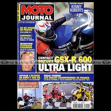 MOTO JOURNAL N°1443 DUCATI 996 RS & SPS 748 R & RS SUZUKI GSXR 600 CHAMBON 2000